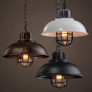 Rustic Industrial Wrought Iron Pendant Light Kitchen Hanging Lamp Chandelier