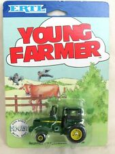 ERTL Young Farmer 4106. John Deere Tractor. 1:64 scale. Sealed Bubble Card.