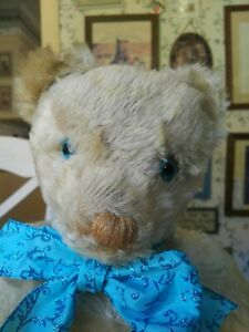 Antique Vintage large 1960s cream mohair Twyford Teddy Bear England UK 17in GUC+