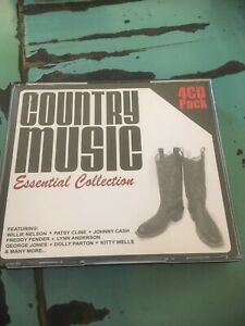 Country Music Essential Collection 4 CD Dolly Parton Willie Nelson