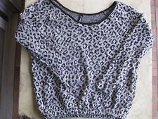 Damen Pullover Strickpullover von Page one Gr. S, 36/38 Schwarz/Weiß/Glitzer top