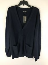 Cypress Links Golf Cardigan Sweater Size XL X-Large Mens Navy Blue V-Neck NWT