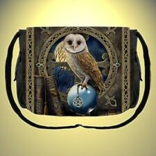Gothic Mittelalter Pagan Wicca Hexe Messenger Bag Eule Tasche Schultertasche