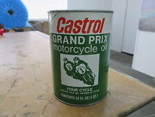 Vintage Made in USA Castrol Grand Prix 4 Cycle Motorcycle Oil Man Cave Display