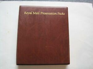 ROYAL MAIL PRESENTATION  PACKS STAMP FOLDER  FILE : 50 Pages