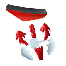 For XR50 CRF50 SSR Plastic Fender Red Seat kit 70 125cc 110cc DIRT BIKE pitbike