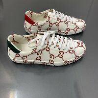Mens Gucci Ace web trainers, Leather, white, Size UK 7, BNWB - RRP £630!