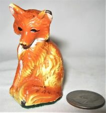 ANTIQUE CAST IRON HUBLEY PA USA TOY FOX PAPERWEIGHT DESK ART STATUE SCULPTURE