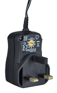 600 mA Regulated Plug-in Power Supply - 6 Voltages - 6 DC Plugs - FREE POSTAGE
