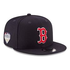 New Era Boston Red Sox 2018 World Serie Cappello con Visiera Navy Rosso 5d2d16548904