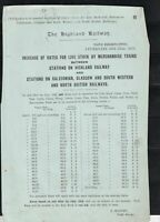 The Highland Railway 1913 Train Increase of Rates for Live Stock Letter Rf 39583