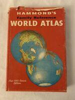 "HAMMOND'S FAMILY REFERENCE WORLD ATLAS ""Space Age Edition"" 1963 HCDJ"