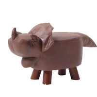 Kids Novelty Footstool Foot Stool Round Animal Padded Seat Home Furniture