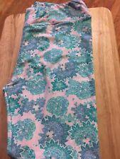 Lularoe Tc Leggings NWOT Pale Pink, Tan, Green