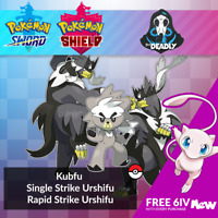 6IV Kubfu & GMAX Single/Rapid Strike Urshifu W/ FREE MEW Pokemon Sword Shield