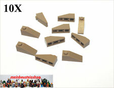 10X Lego® 4286 Dachsteine Roof Slope 1X3 33° Dunkelbeige Dark Tan NEU