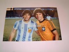 FOOTBALL LEGENDS DIEGO MARADONA & ZICO ARGENTINA v BRAZIL PHOTOGRAPH