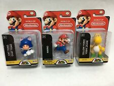 Nintendo Yellow Yoshi, Mario, and Blue Cat Toad 2 1/2-Inch Mini Figures USA Ship