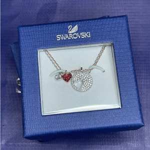 Swarovski Crystal Wishes Heart Set of two Pendants Necklace