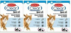 Bob Martin Clear Spot On for CATS Fipronil (3 x 2 Pack)
