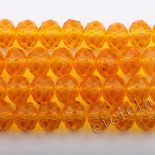 New Faceted 50/100Pcs Rondelle Exquisite Crystal Glass 4x6mm Beads U Pick Colors