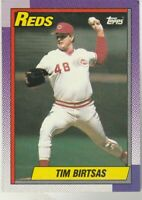 FREE SHIPPING-MINT-1990 Topps #687 Tim Birtsas Reds PLUS BONUS CARDS