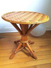 Table Bambou Et Rotin Design Années 50-60 (2)