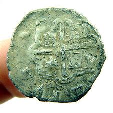 PHILIP II MEXICO SILVER PIRATE COIN TREASURE COBS SPANISH COLONIAL OLD FELIPE II