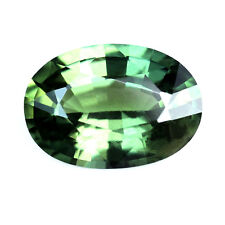 Certified Natural Green Sapphire 0.80ct VS Clarity Madagascar 6.76x4.79mm Oval