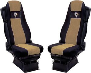 Seat Cover Fabric Velour tailored Truck Volvo FH 2013 - 2 SEAT BELTS Beige