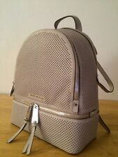 $328  MICHAEL KORS Cement  Perforated  Leather RHEA  Small / Medium Backpack