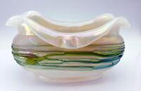 Antique Art Nouveau Glass Bowl.