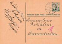 Postkarte verschickt von Hägglingen nach Immensee aus dem Jahr 1953 Helvetia