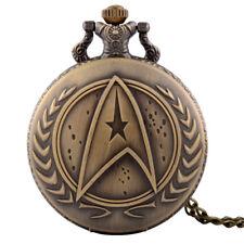 Trek Theme Necklace Chain Full Hunter Vintage Anti 00004000 que Pocket Quartz Watch Star