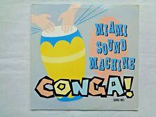 Miami Sound Machine Conga! (Dance Mix) B/W Instrumental 1985 Sterling Press VG+