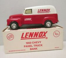 Ertl Lennox 1950 Chevy Panel Truck Bank in box