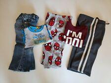 Boys Toddler 2T Lot of 5 Mixed 1 Shirt/1 Pj Shirt/2 Pants/1 Sleep Pant