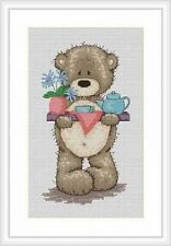 Bruno The Bear Windy Day For Bruno Cross Stitch Kit Teddy Bear