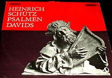 HEINRICH SCHUTZ  Psalmen Davids LP CANTATE RECORDS GERMAN