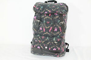 """HURLEY """"ONE AND ONLY"""" GIRLS MULTI-COLOR GRAPHIC SCHOOL/BOOK/TRAVEL/BACKPACK"""