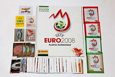 Panini EM EC Euro 2008 08 – COMPLETE SET + EMPTY ALBUM vuoto vacio + 4 Packets