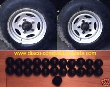 Land Rover Defender Black Wheel Nut Covers x 23