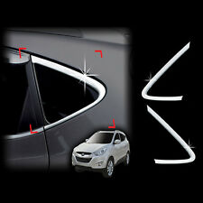 Chrome Window Sill C Pillar Molding Cover 2p For 2010 2014 Hyundai Tucson ix35