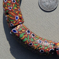 4 old antique venetian large elbow millefiori african trade beads #936