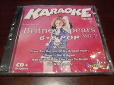 CHARTBUSTER 6+6 KARAOKE DISC 40155 BRITNEY SPEARS #2 CD+G POP MULTIPLEX SEALED