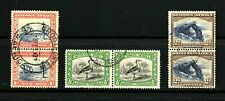 South West Africa -- 3 used bilingual pairs from 1931 -- cv $14.00