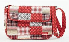 Victorian Heart Bella Taylor Poppy Plaid Flap Style Quilted Handbag Purse New