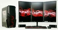 Triple Monitor Screen Gaming PC Bundle i7 16 GB Ram SET SSD HDD GTX 1650 1660 Ti