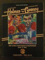 Larry Holmes vs Gerry Cooney - 1982 Boxing Program - Heavyweight Championship