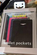heyday Cell Phone Wallet Pocket - black blue pink green - 4 pack